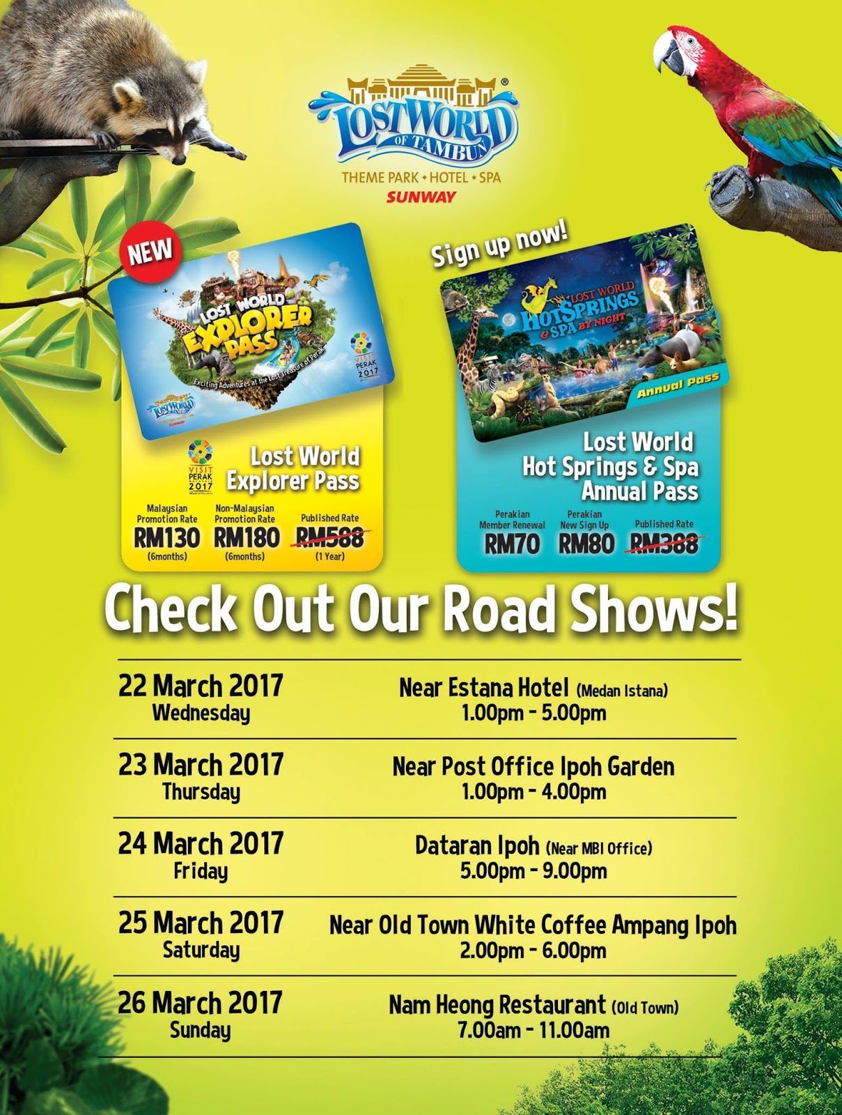 Sunway Lost World Of Tambun Explorer Pass Rm130 6 Months Hot