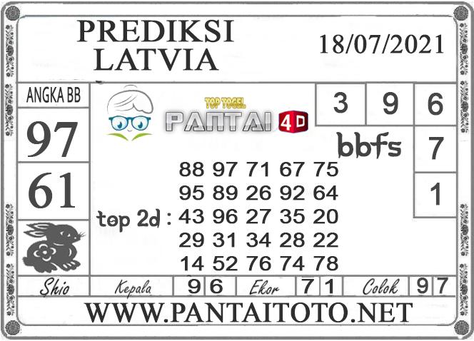 PREDIKSI TOGEL LATVIA PANTAI4D 18 JULI 2021