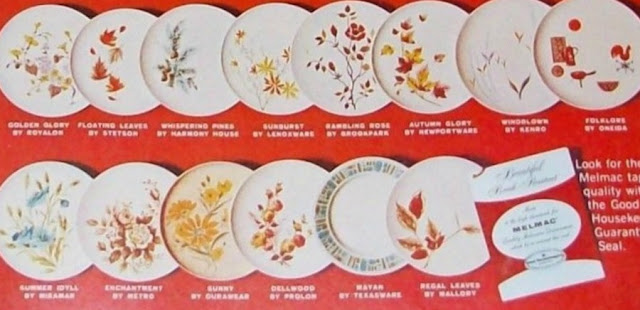 Melmac Patterns from 1962