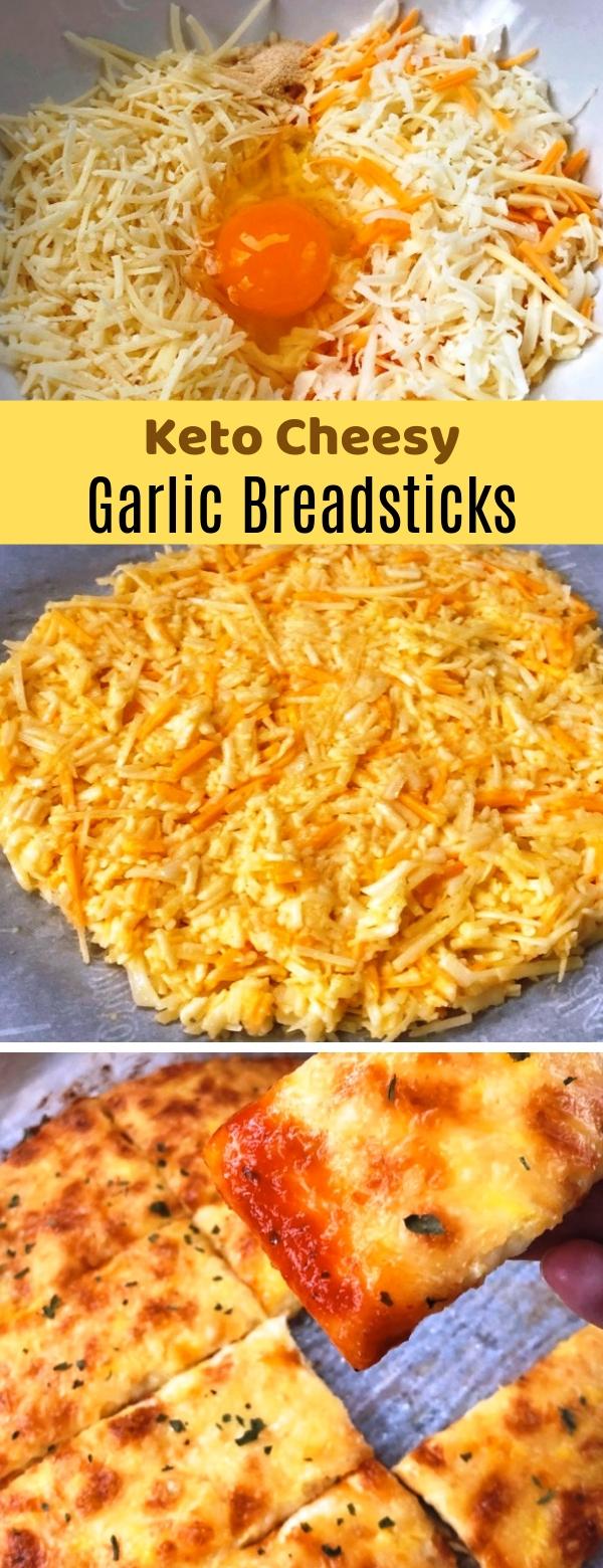 Quick Keto Cheesy Garlic Breadsticks #keto #bread