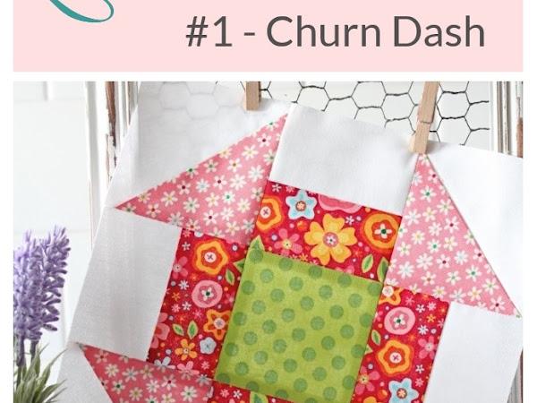 {Classic Quilt Blocks} Churn Dash - Add A Twist!