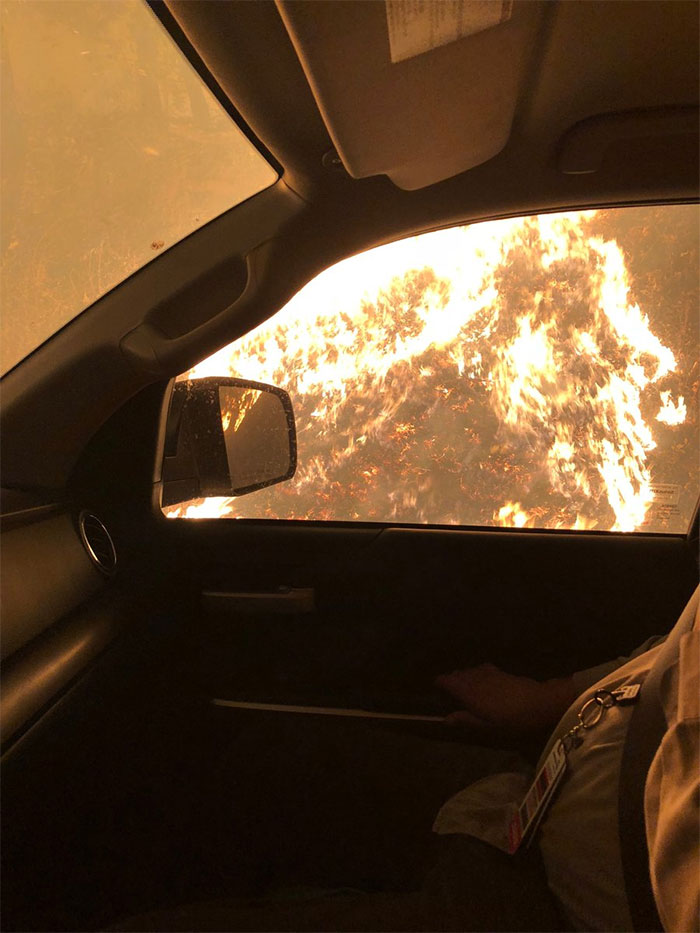 Nurse Shared A Picture Of His Toyota After He Rescued Many Lives From Fire And The Automotive Company Responded