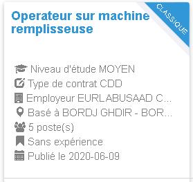 Operateur sur machine remplisseuse