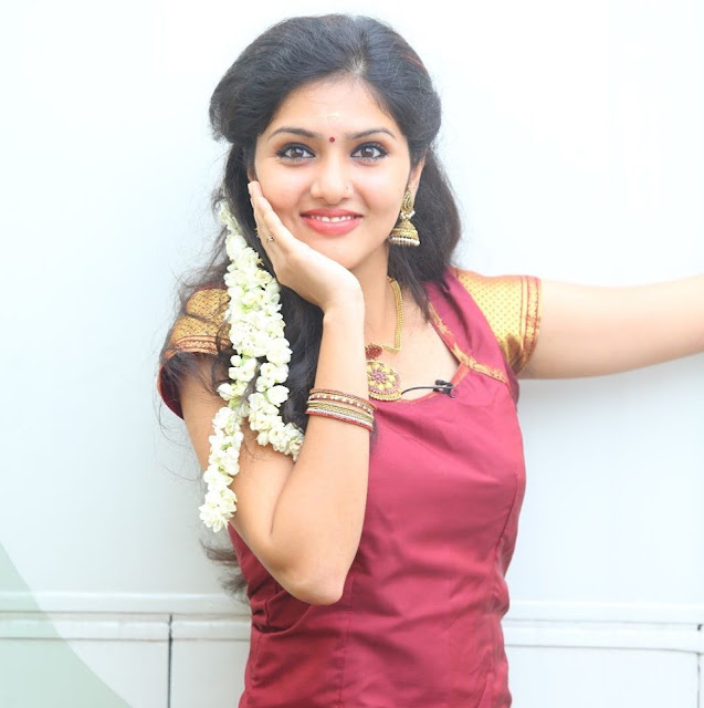 Tamil Actress Gayathri Suresh Latest Pics In Traditional Wear Navel Queens