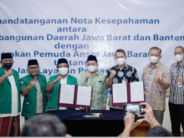 Dukung Pemasaran Produk Santri, GP Ansor Jawa Barat Gandeng bank bjb