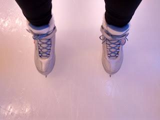 Patins pour femme sur patinoire