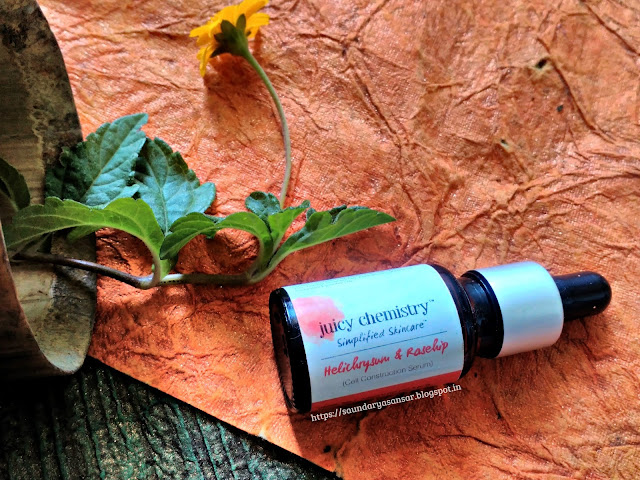Juicy Chemistry- Helichrysum and Rosehip Cell Reconstruction Serum Review