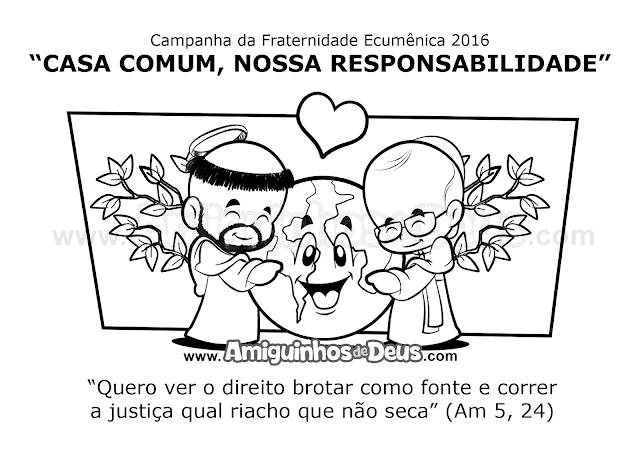 desenho da campanha da fraternidade 2016 para colorir
