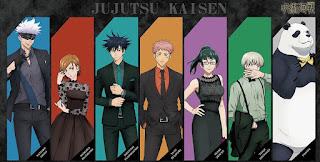 呪術廻戦 Jujutsu Kaisen   狗巻棘   五条悟   虎杖悠仁   パンダ   伏黒恵   釘崎   Hello Anime !