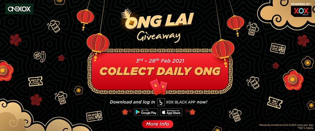 Kempen ONEXOX ONG LAI Giveaway