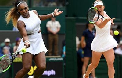 Serena Williams will face Simona Halep in Wimbledon women's single final 2019.