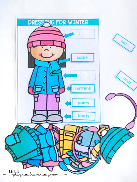 Practice matching and labeling different winter clothing items and introduce and practice key winter clothing vocabulary terms.