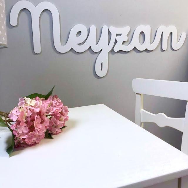 nombre infantil de niño NEYZAN para pegar en la pared , decoración infantil