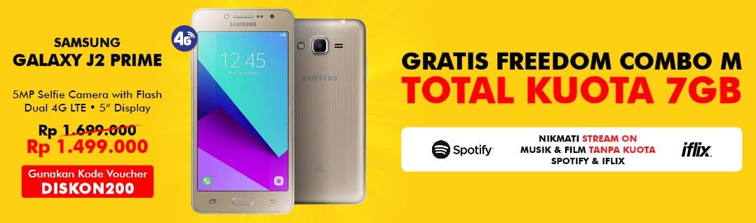 Promo Samsung Galaxy J2 Prime Diskon Rp 200 Ribu di Estore