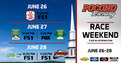 The 2020 #NASCAR events at Pocono Raceway will be held without fans in attendance.
