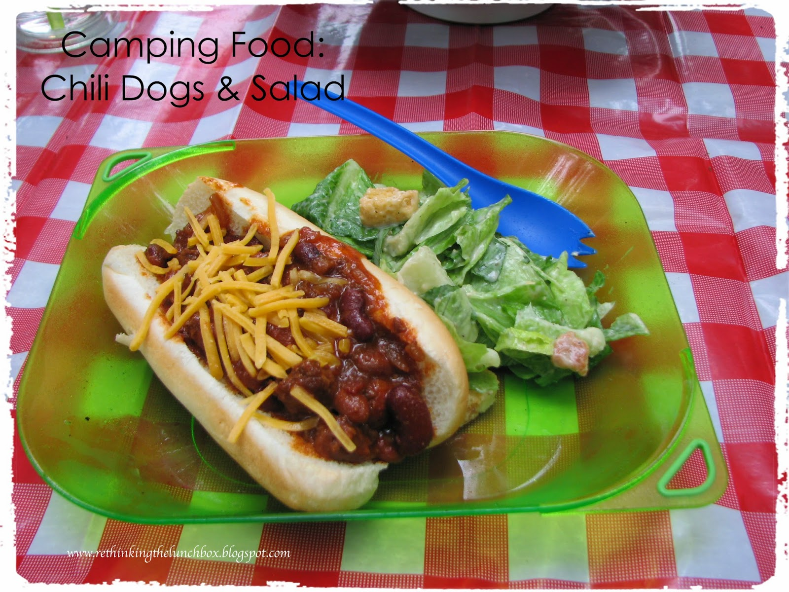 After Setting Up Our Tent And Campsite We Were Purty Darn Hungry For Dinner Chili Dogs Caesar Salad The Kids Grilled Jennie O
