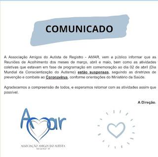 Comunidade da Amar sobre o Coronavírus