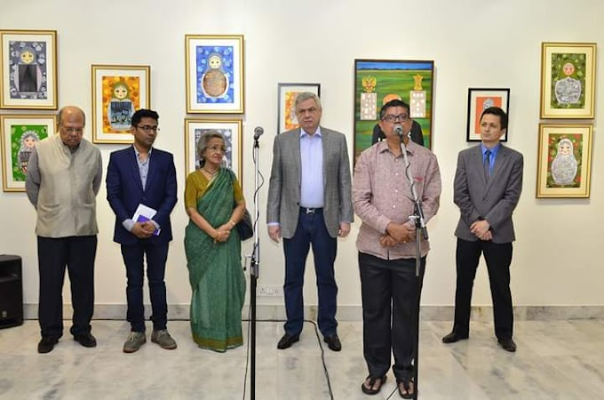 ADARSH SINHA'S PAINTINGS IMPRESS DELHI AUDIENCE