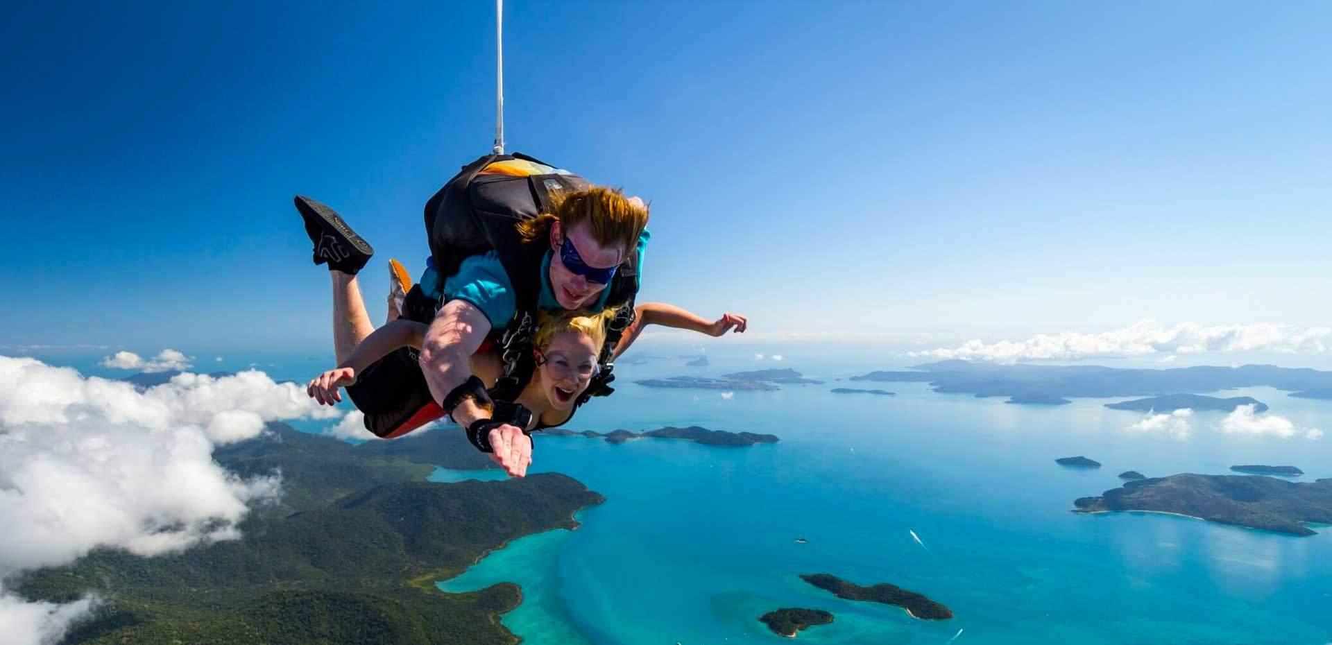 Парус или прыжок с парашютом Уитсандеи, Большой барьерный риф