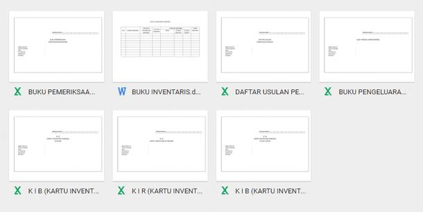 Contoh Format Administrasi Inventaris Sekolah