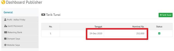 Tarik Tunai di RajaTraffic.com
