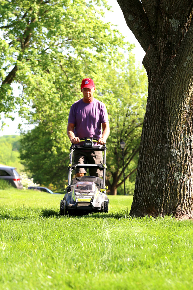 Cutting grass season is here! Make it less daunting with the power of Ryobi