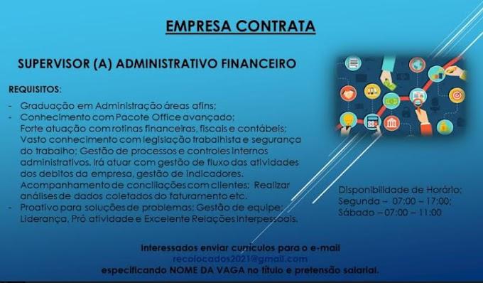 SUPERVISOR(A) ADMINISTRATIVO FINANCEIRO