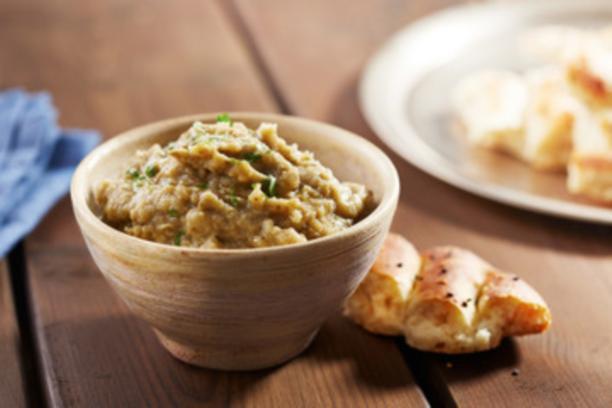 Hummus de berenjena asadas