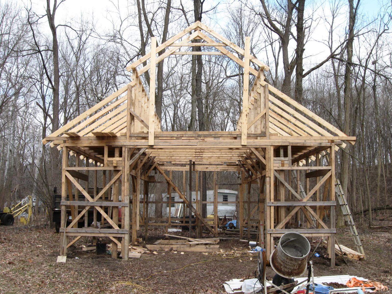 Make Your Own Bricks: My barn construction progress update ...