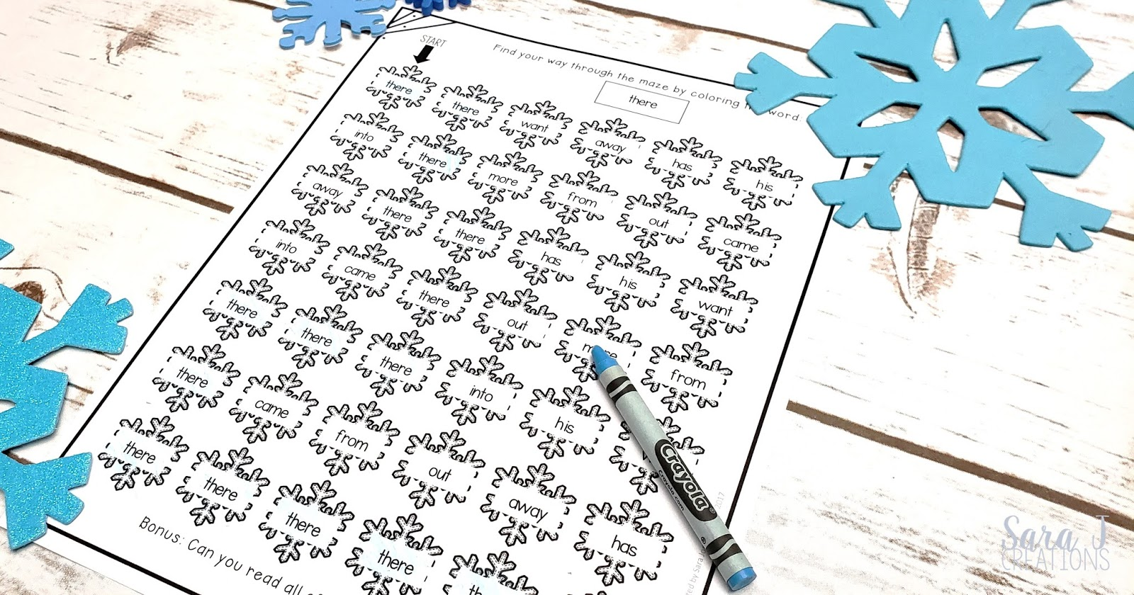 Add this to your list of sight word games and activities. FREE snowflake themed sight word mazes. Perfect for teaching new sight words or to practice sight words at any age - preschool, kindergarten and beyond.