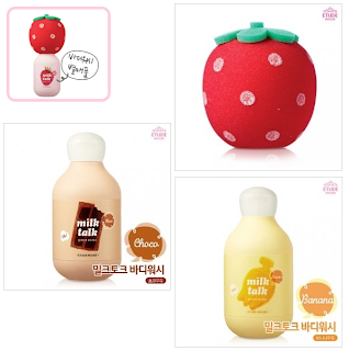 Etude House milk talk body washes