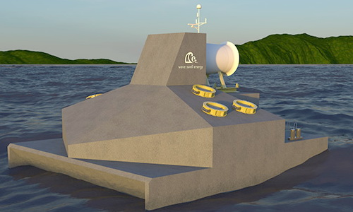 Tinuku Wave Swell Energy develops electricity from waves using artificial blowhole