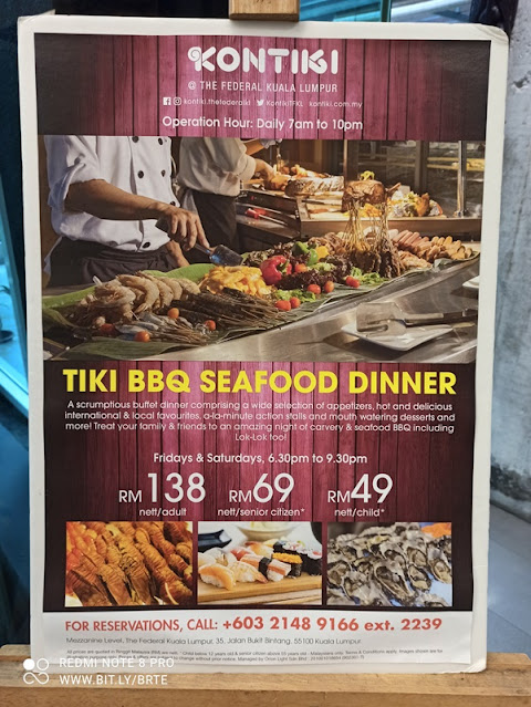 Tiki Seafood BBQ Buffet Promotion Banner