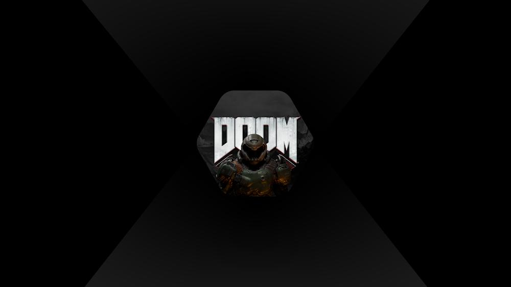 doom wallpaper for pc gamer 4k resolution dark mode