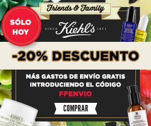 Friends and family Kiehl´s octubre 2016