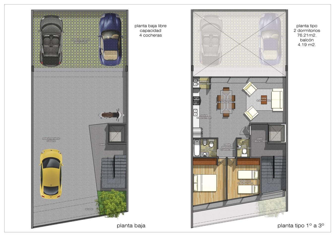 Arquitectura y dise o plano de proyecto de departamentos for Disenos departamentos pequenos planos