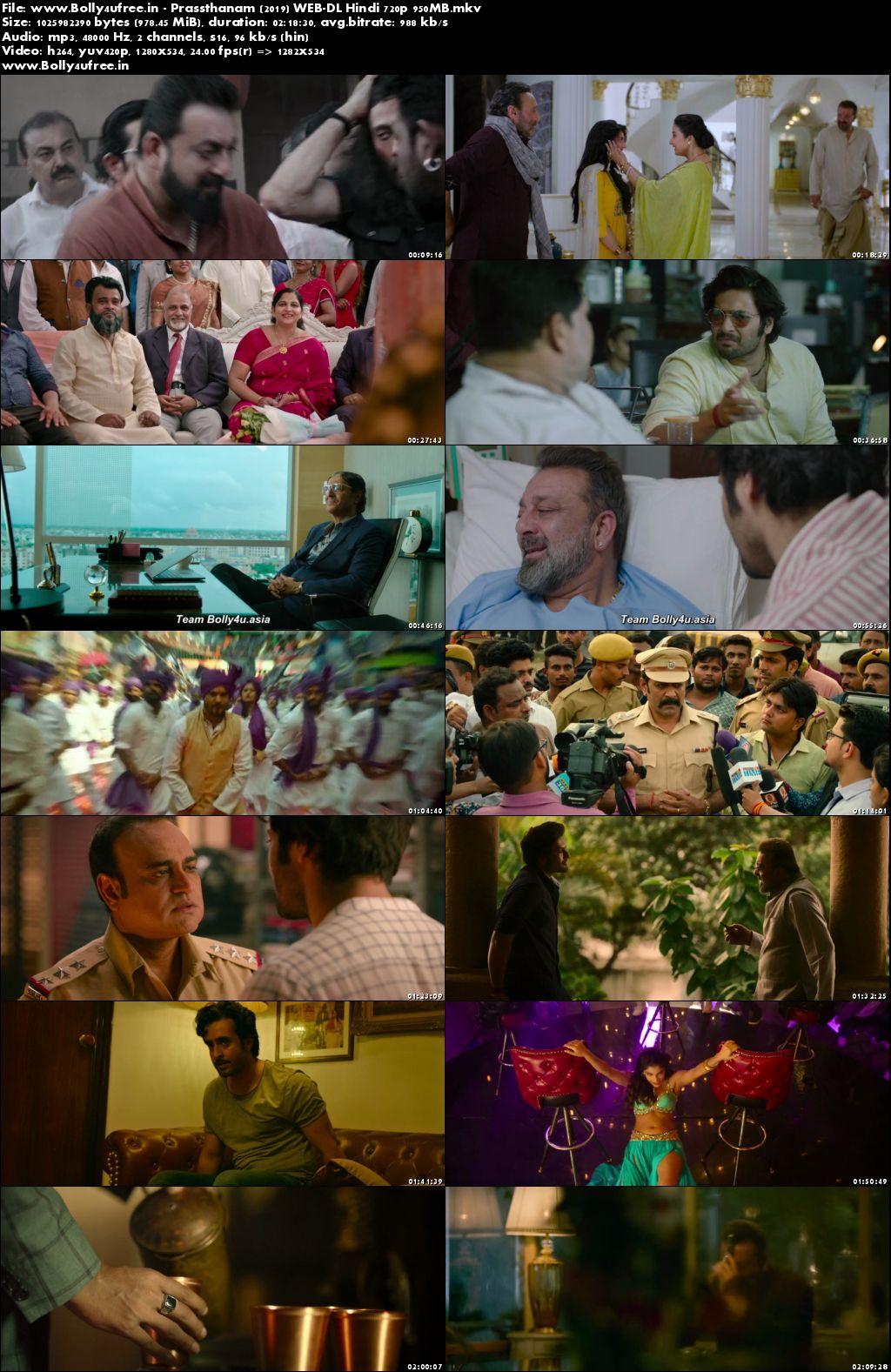 Prassthanam 2019 Hindi Movie Download WEB-DL 720p 950MB