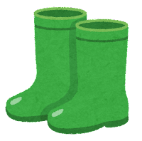 長靴のイラスト(緑)
