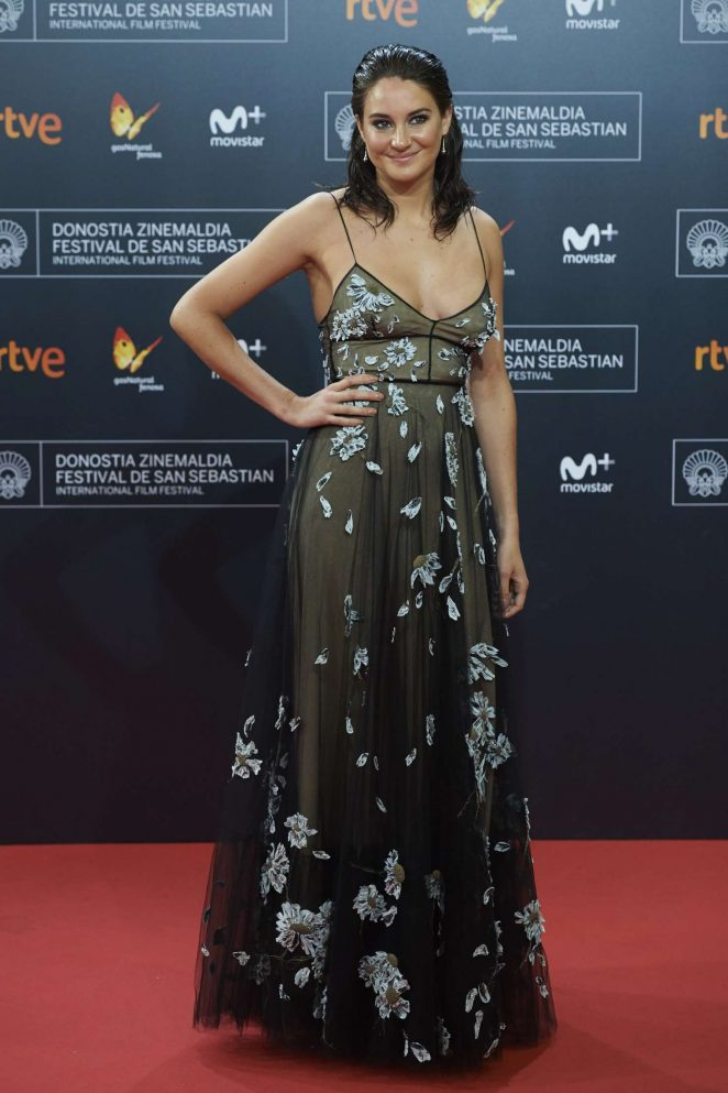 Shailene Woodley goes braless for the Snowden San Sebastian Film Festival Premiere