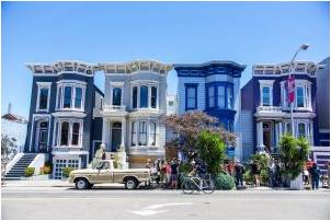 A row of houses in San Francisco.