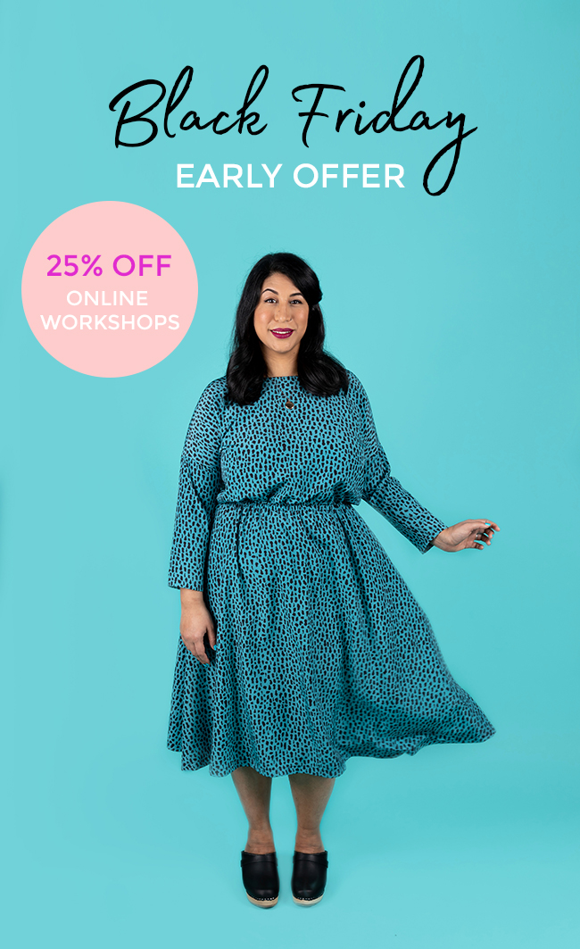 Tilly and the Buttons Black Friday Online Workshop Sale