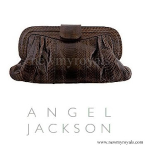 Princess Madeleine style Angel Jackson Chandra Snakeskin clutch