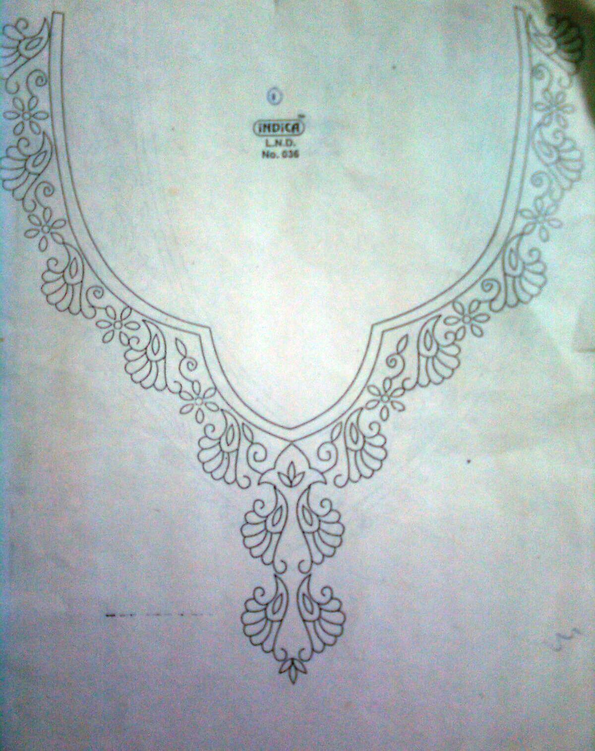 Creative Patterns Neck Designs