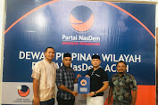 Prananda Tunjuk Muntasir Pimpin Garda Nasdem Aceh Selatan