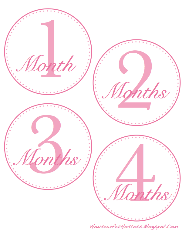 FREE 12 Months Onesies Template - Housewife2Hostess