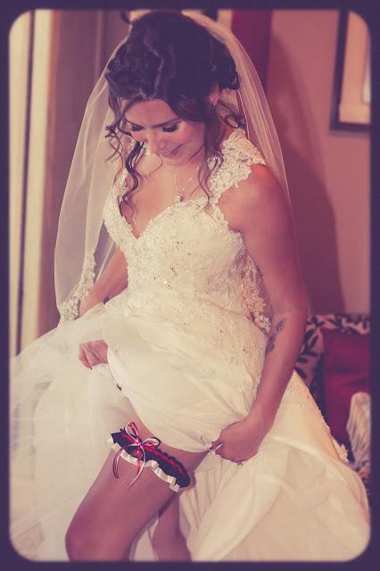 Tampa Bay Buccaneers Wedding Garter by Sugarplum Garters
