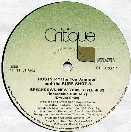 Rusty P The Toe Jammer Sure Shot 3 Breakdown New York Style