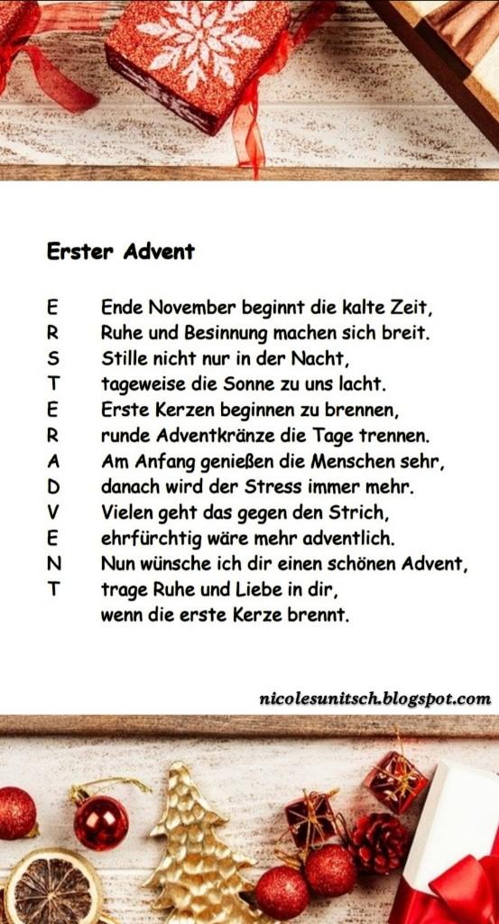 Gedichte Von Nicole Sunitsch Autorin 1 Advent Gedicht Von