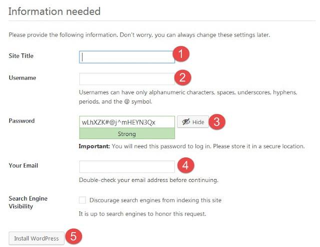 Instale o configure su WordPress Blog