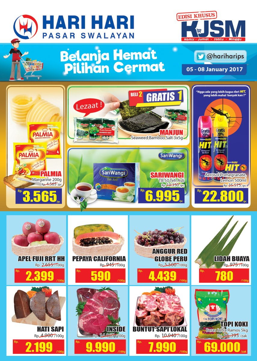 Katalog Harga Promo Hari Hari Pasar Swalayan 5 – 8 Januari 2017